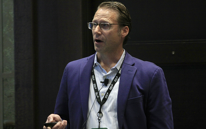 Chad Bennett during the 2019 MidWest Drug Development Conference