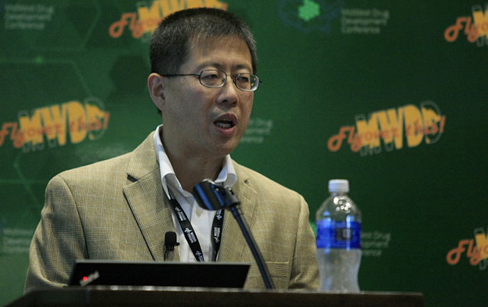 Dong Wang at the 2019 MidWest Drug Development Conference